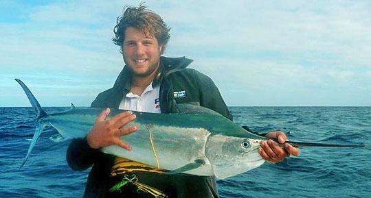 Luke Katsaros with a black marlin at Bowling Green