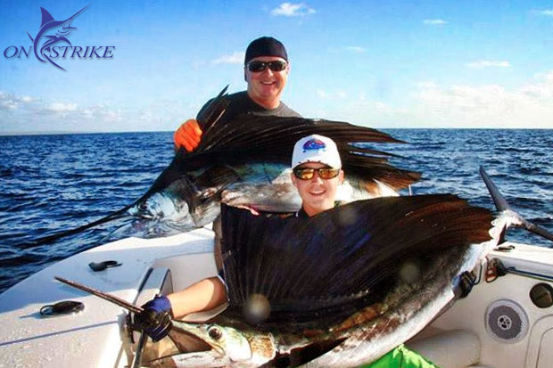Exmouth sails - photo from Capt. Josh Bruynzeel's Onstrike Charters