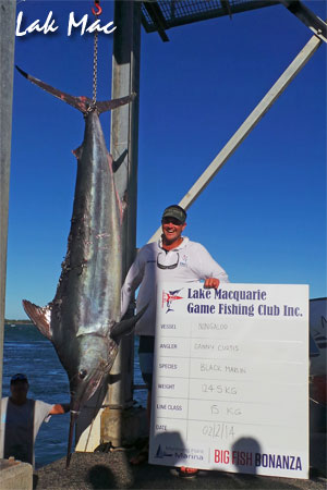 2014 lake macquarie big fish bonanza black marlin blog for Big fish classic